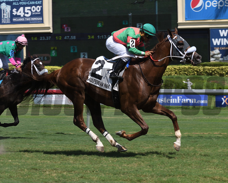 Louder Than Bombs wins the 2018 Armed Forces Stakes<br /> Coglianese Photos/Lauren King
