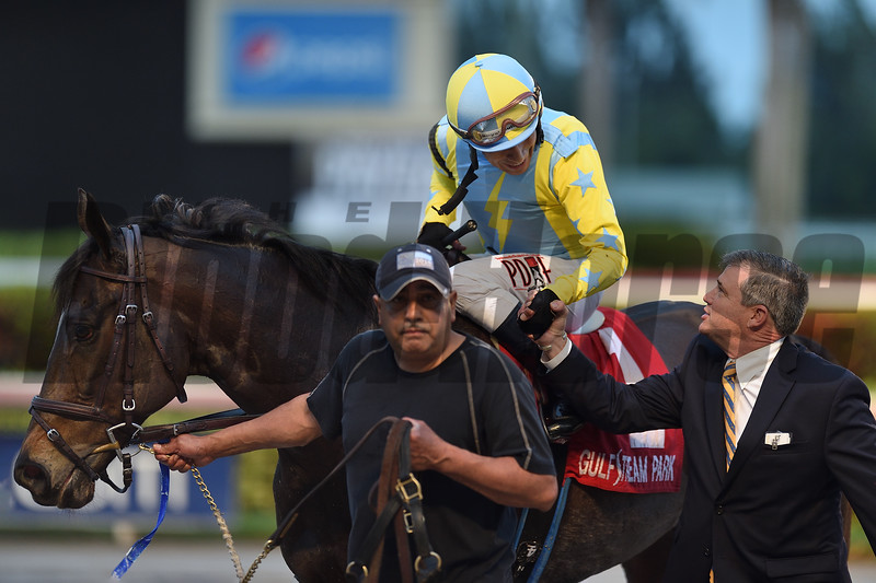 Glorious Empire wins the 2018 Ft. Lauderdale Stakes at Gulfstream Park     <br /> Coglianese Photos/Lauren King