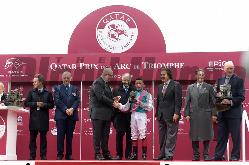 Enable wins 2018 Qatar Prix de l'Arc de Triomphe at Longchamp Racecourse. Photo: Mathea Kelley