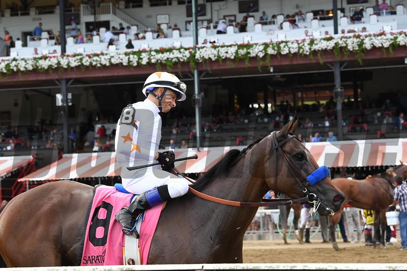 Dream Tree wins the Prioress Stakes at Saratoga Sunday, September 2, 2018. Photo: Coglianese Photos/Chelsea Durand