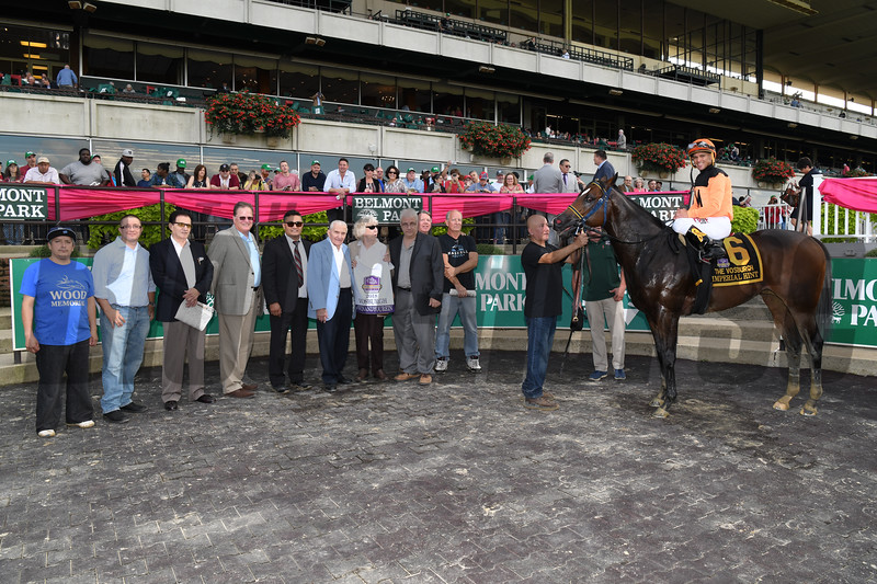 Imperial Hint wins 2018 Vosburgh Stakes at Belmont Park. Photo: Coglianese Photos