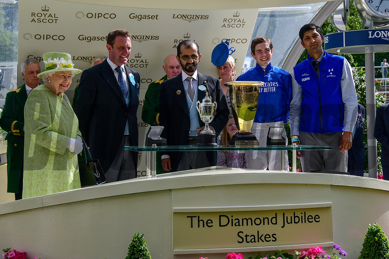 Blue Point wins the 2019 Diamond Jubilee Stakes at Royal Ascot<br /> Mathea Kelley