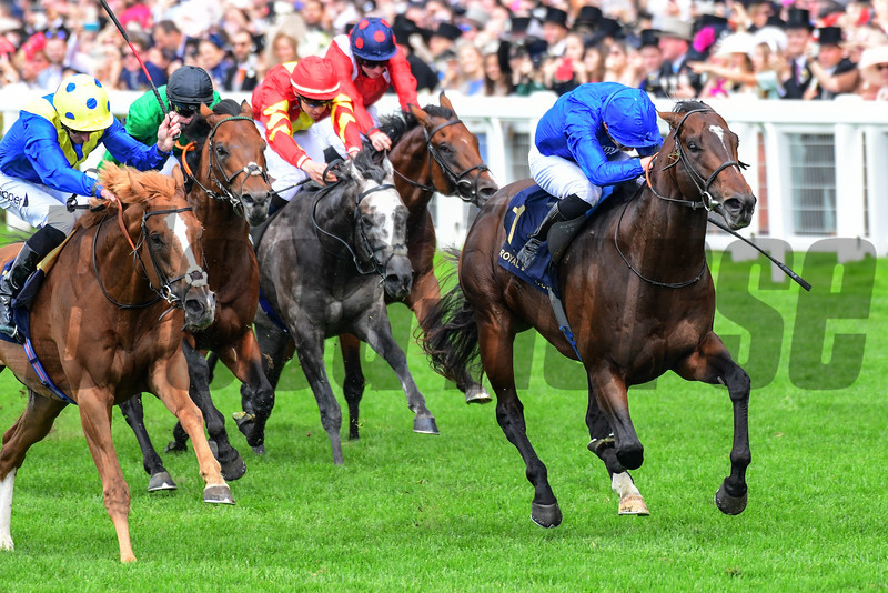 Blue Point and James Doyle win the G1 Diamond Jubilee Stakes, Royal Ascot 6-22-19, Ascot, UK, Mathea Kelley-Bloodhorse
