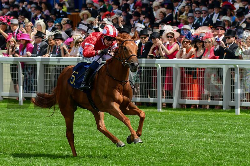 Daahyeh and David Eagan Win the G3 Albany Stakes, 6-21-20, Royal Ascot, Ascot, UK, photo by Mathea Kelley/Bloodhorse