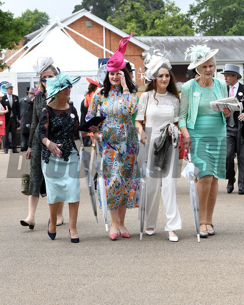 Fashion and Scenes; Royal Ascot; Ascot; UK; 6-19-19; Photo:  Mathea Kelley/Bloodhorse