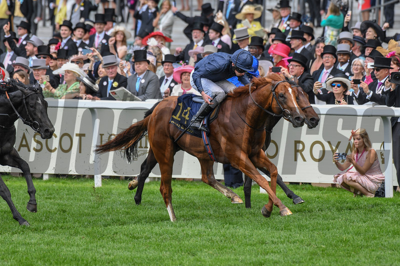 Southern Hills, Ryan Moore win the Windsor Castle Stakes, 6-19-20, Royal Ascot, Ascot, UK, photo by Mathea Kelley/Bloodhorse