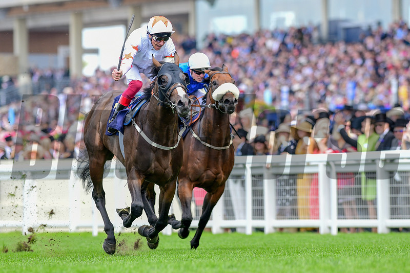 Advertise and Frankie Dettori win the G1 Commonwealth Cup, 6-21-20, Royal Ascot, Ascot, UK, photo by Mathea Kelley/Bloodhorse