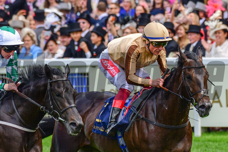 A'Ali and Frankie Dettori win the G2 Norfolk Stakes, 6-20-20, Royal Ascot, Ascot, UK, photo by Mathea Kelley/Bloodhorse