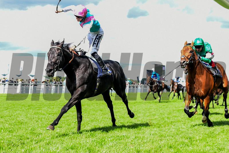 Biometric and Harry Bentley win the Britannia Stakes, 6-20-20, Royal Ascot, Ascot, UK, photo by Mathea Kelley/Bloodhorse