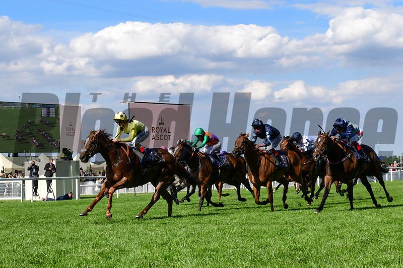 Cape Byron, Andrea Atzeni  win the Wokingham Stakes, Royal Ascot 6-22-19, Ascot, UK, Mathea Kelley-Bloodhorse