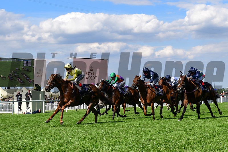 Cape Byron wins the 2019 Wokingham Stakes at Royal Ascot<br /> Mathea Kelley Photo