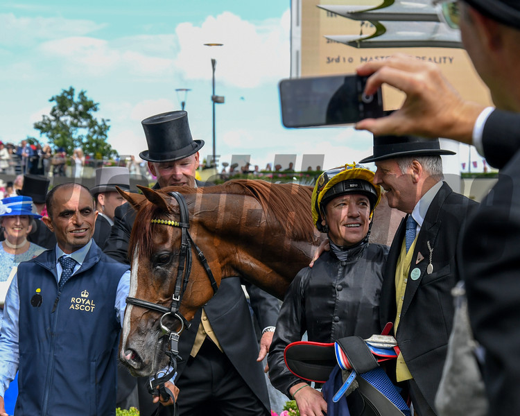 Stradivarius and Frankie Dettori win the G1 Gold Cup, 6-20-20, Royal Ascot, Ascot, UK, photo by Mathea Kelley/Bloodhorse