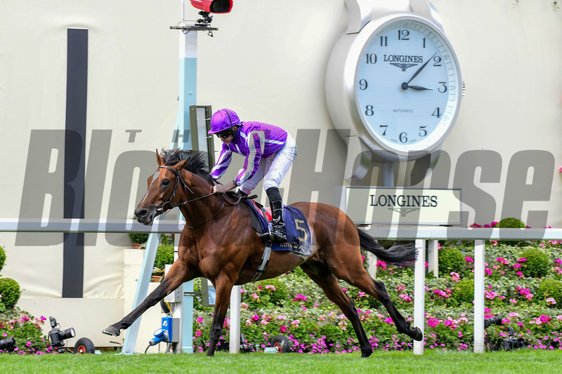 Japan and Ryan Moore win the G2 King Edward VII Stakes, 6-21-20, Royal Ascot, Ascot, UK, photo by Mathea Kelley/Bloodhorse