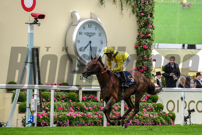 Addeybb and Daniel Tudhope win the Wolferton Stakes; Royal Ascot; Ascot; UK; 6-18-19; photo by Mathea Kelley/Bloodhorse