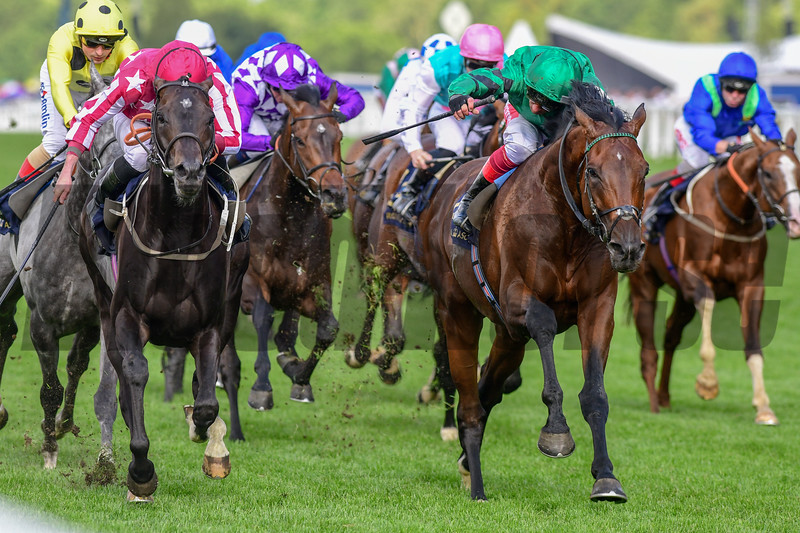 Baghdad and Ryan Moore win The Duke of Edinburgh Stakes, 6-21-20, Royal Ascot, Ascot, UK, photo by Mathea Kelley/Bloodhorse