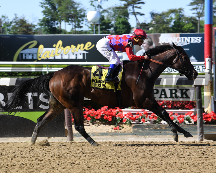 Kathryn the Wise wins the Critical Eye Stakes Monday, May 27, 2019 at Belmont Park. Photo: Coglianese Photos/Susie Raisher