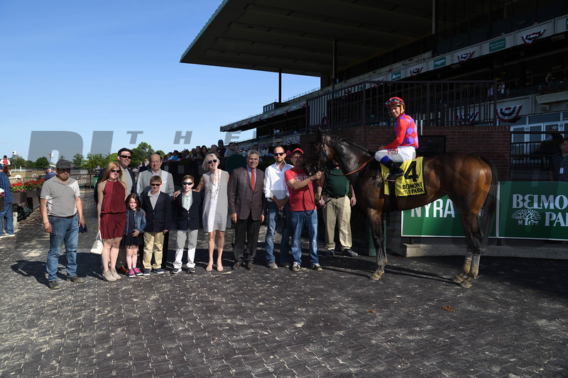 Kathryn the Wise wins the Critical Eye Stakes Monday, May 27, 2019 at Belmont Park. Photo: Coglianese Photos