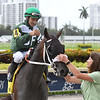 Lenzi's Lucky Lady wins the 2019 Golden Isles Stakes at Gulfstream Park<br /> Coglianese Photos/Ryan Thompson