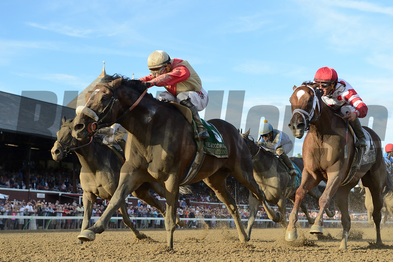 Preservationist wins the 2019 Woodward Stakes at Saratoga. Photo: Coglianese Photos
