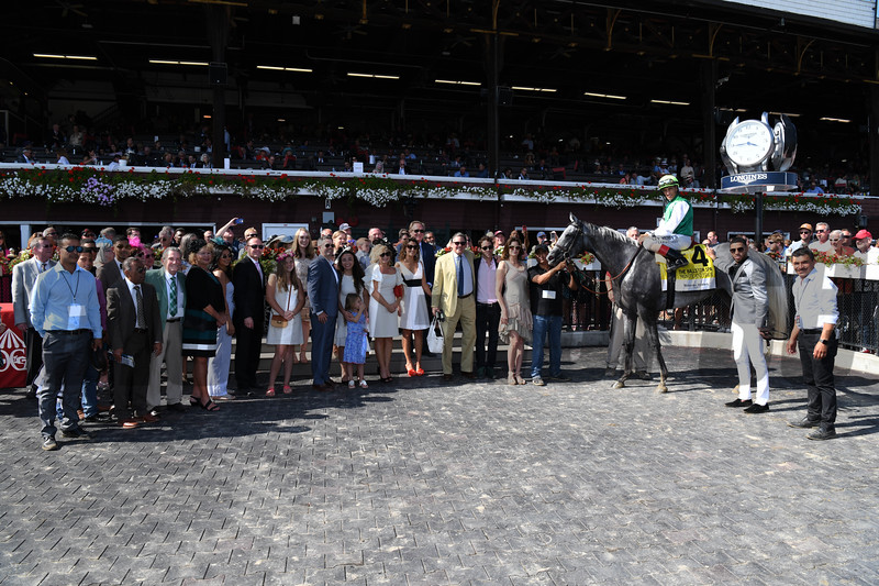 Significant Form wins the 2019 Ballston Spa Stakes at Saratoga. Photo: Coglianese Photos