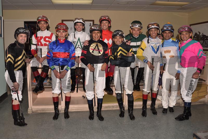 2019 Pegasus World Cup Jockeys<br /> Coglianese Photos/Leslie Martin