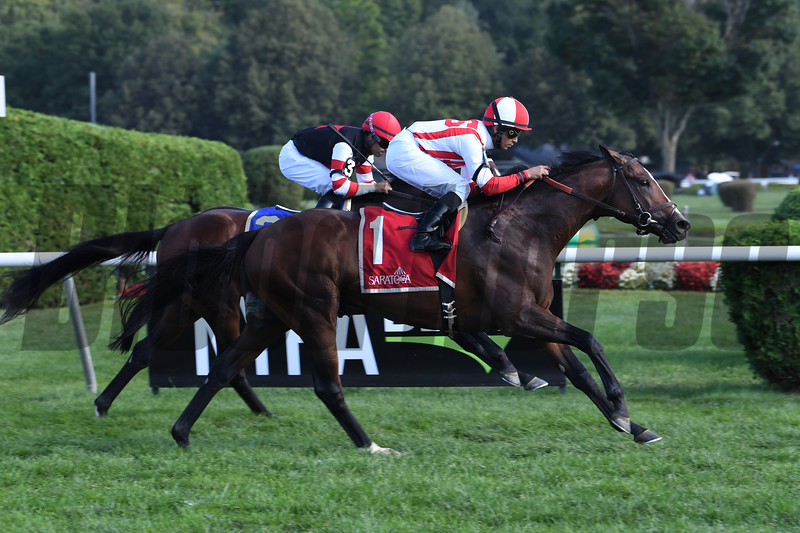 Front Run the Fed wins the 2019 Better Talk Now Stakes at Saratoga. Photo: Coglianese Photos
