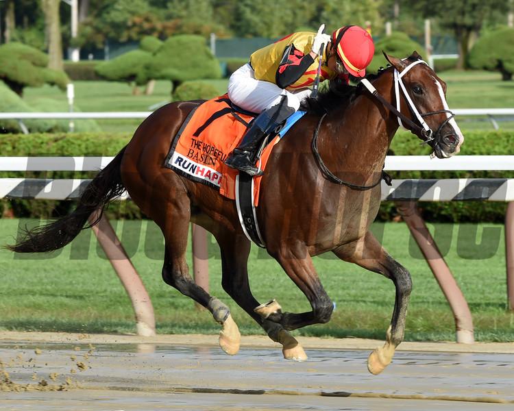 Basin wins the 2019 Hopeful Stakes at Saratoga. Photo: Coglianese Photos
