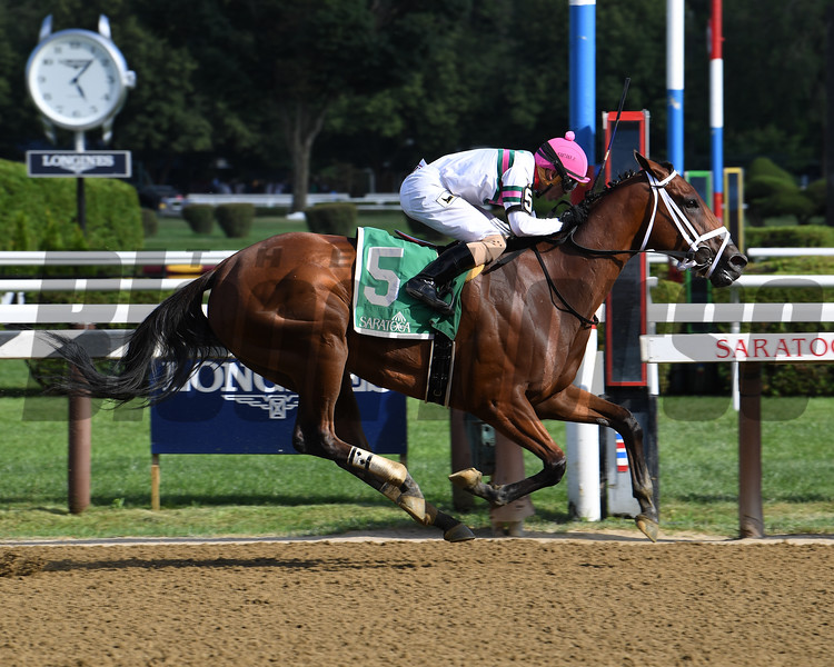 Minit to Stardom wins the Honorable Miss Handicap Wednesday, July 24, 2019 at Saratoga. Photo: Coglianese Photos/Chelsea Durand