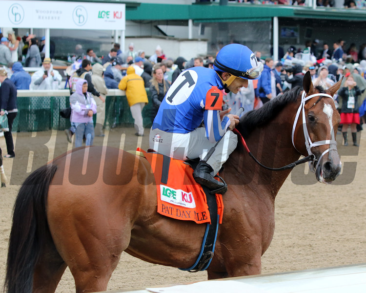 Mr. Money wins the 2019 Pat Day Mile Stakes at Churchill Downs. Photo: Chad B. Harmon
