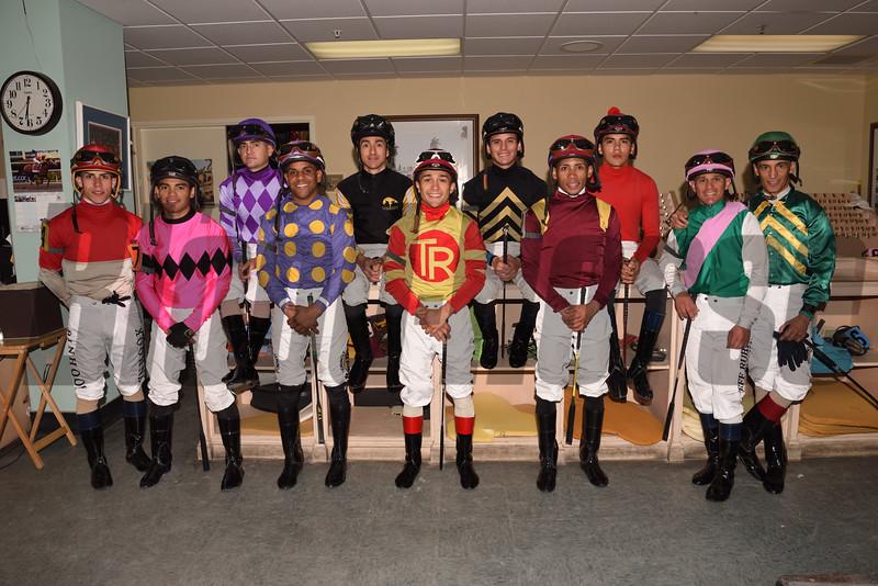 2019 Florida Derby Jockeys<br /> Coglianese Photos