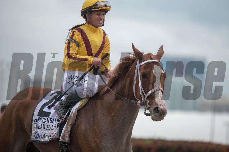 Dream Pauline wins the 2019 Hurricane Bertie Stakes at Gulfstream Park<br /> Joe DiOrio Photo