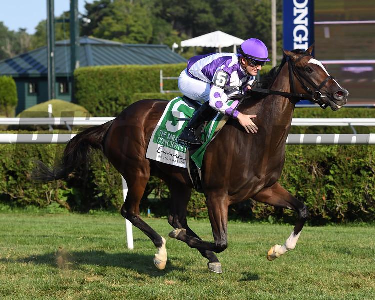 Concrete Rose wins the 2019 Saratoga Oaks Invitational Stakes<br /> Coglianese Photos/Janet Garaguso