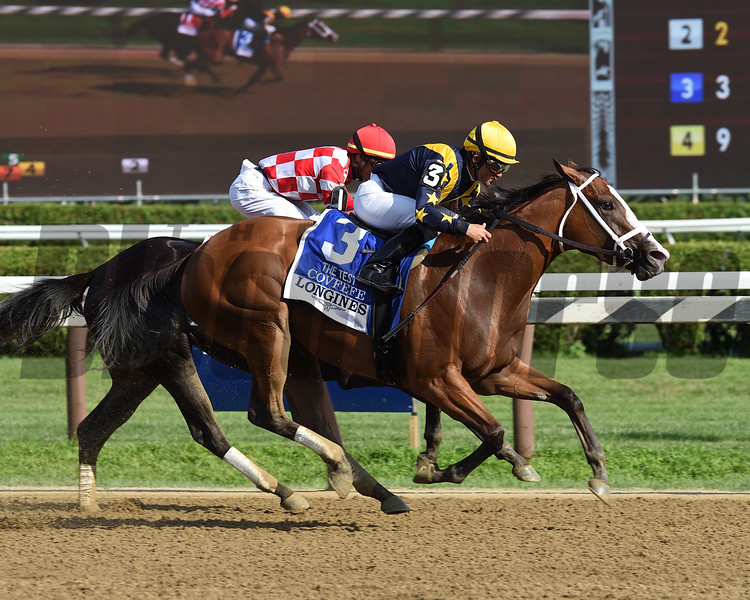 Covfefe wins the 2019 Test Stakes at Saratoga<br /> Coglianese Photos/Chris Rahayel