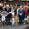 The connections of Perfect Alibi in the winner's circle after winning the 128th running of the Spinaway at the Saratoga Race Course Sept. 1, 2019 in Saratoga Springs, N.Y.  Photo by Skip Dickstein