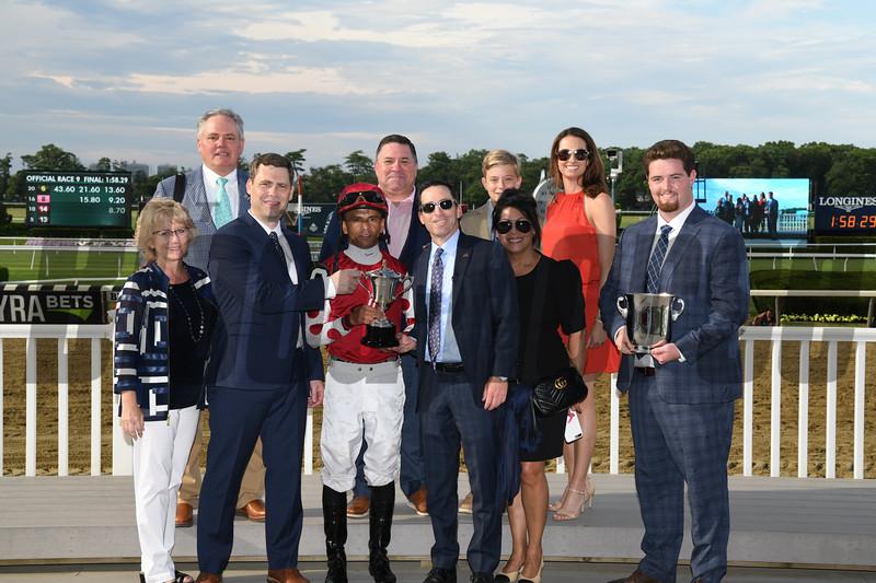 Henley's Joy wins the Belmont Derby Invitational Saturday, July 6, 2019 at Belmont Park. Photo: Coglianese Photos