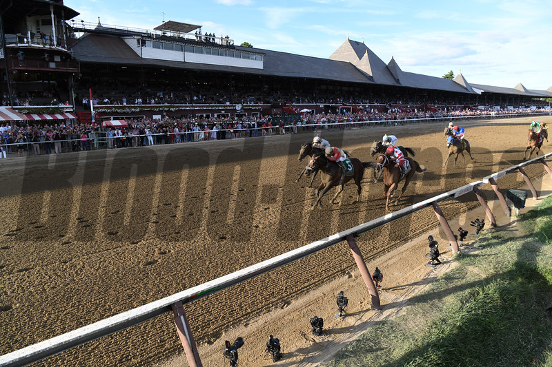 Preservationist wins the 2019 Woodward Stakes at Saratoga. Photo: Coglianese Photos/Derbe Glass