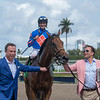 Champagne Anyone. with Chris Landeros wins The Gulfstream Park Oaks .  @ Gulfstream Park.  March 30 2019<br /> ©JoeDiOrio/Winningimages.biz