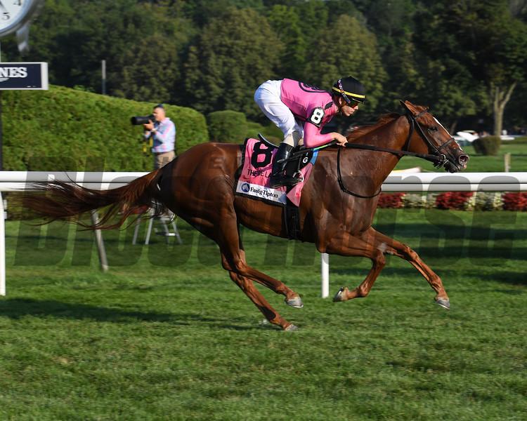 Got Stormy wins the 2019 De La Rose Stakes at Saratoga. Photo: Coglianese Photos