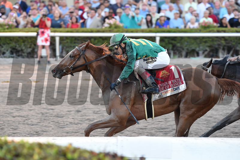 Code of Honor wins the 2019 Fountain of Youth Stakes at Gulfstream Park     <br /> Coglianese Photos/Lauren King