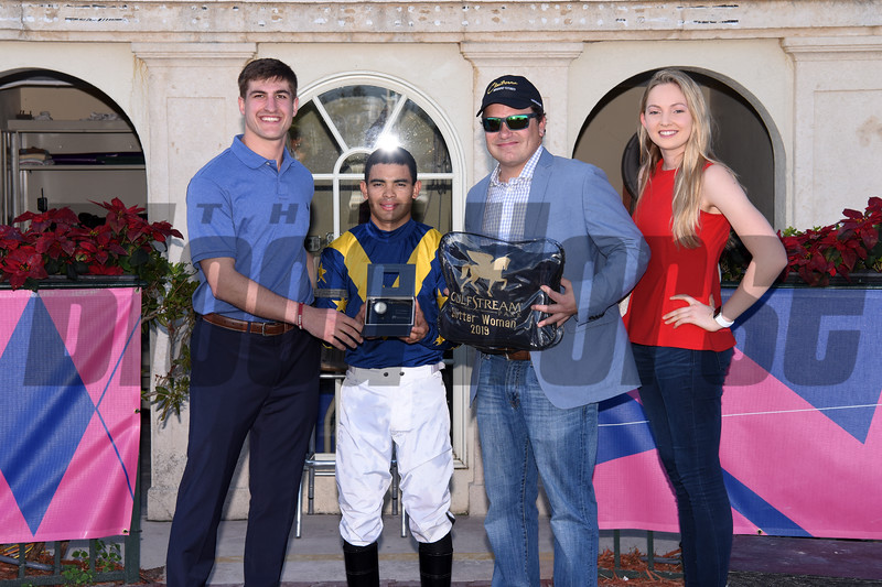 Fancy Dress Party wins the 2019 Glitter Woman Stakes at Gulfstream Park<br /> Coglianese Photos