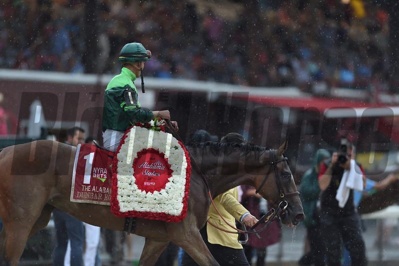 Dunbar Road wins the 2019 Alabama Stakes at Saratoga<br /> Coglianese Photos/Janet Garaguso