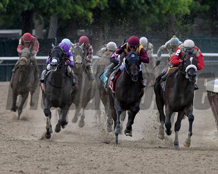 Preservationist wins the Suburban Stakes Saturday, July 6, 2019 at Belmont Park. Photo: Coglianese Photos/Rob Mauhar