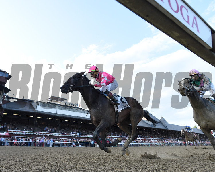Tax wins the Jim Dandy Stakes Saturday, July 27, 2019 at Saratoga. Photo: Coglianese Photos
