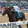 Promises Fulfilled wins the 2019 John A. Nerud Stakes at Belmont Park<br /> Coglianese Photos/Joe Labozzetta
