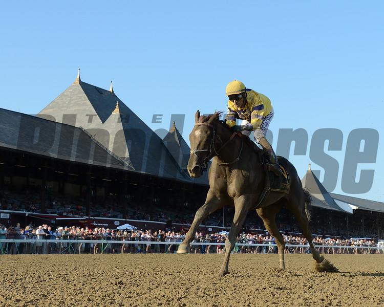King Zachary wins the 2019 Birdstone Stakes at Saratoga<br /> Coglianese Photos
