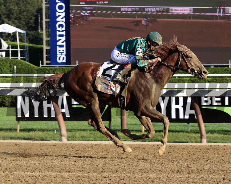 Code of Honor wins the 2019 Travers Stakes at Saratoga<br /> Coglianese Photos/Taylor L. Ejdys