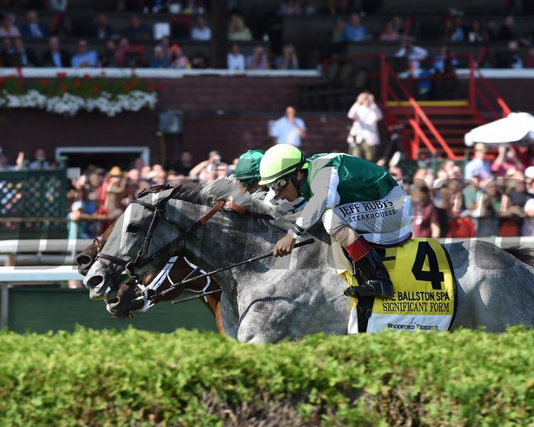 Significant Form wins the 2019 Ballston Spa Stakes at Saratoga<br /> Coglianese Photos/Adam Mooshian