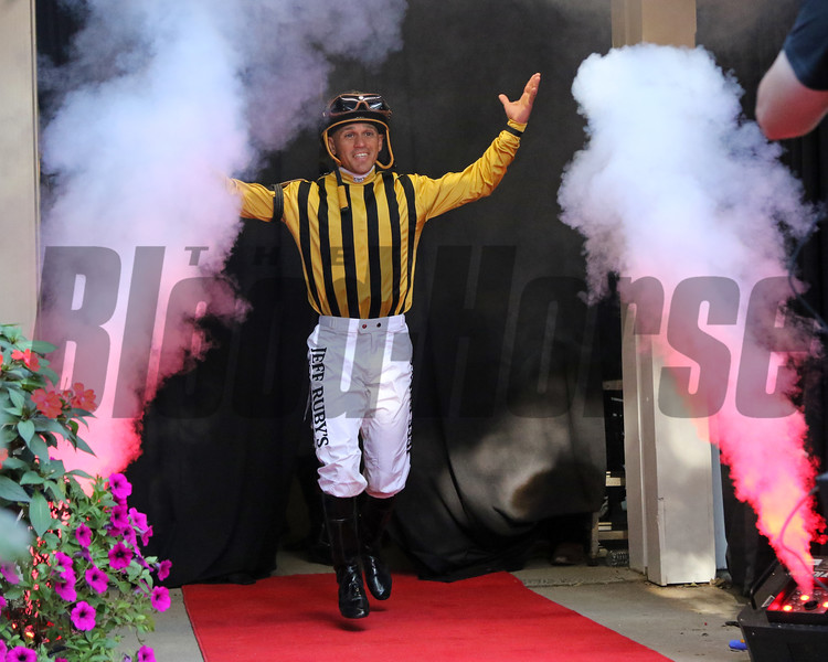 Javier Castellano - Jockey Introductions prior to the 150th Running of the Travers (GI) at Saratoga on August 24, 2019. Photo By: Chad B. Harmon