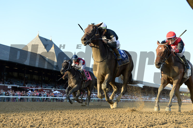 Perfect Alibi wins the 2019 Adirondack Stakes at Saratoga. Photo: Coglianese Photos