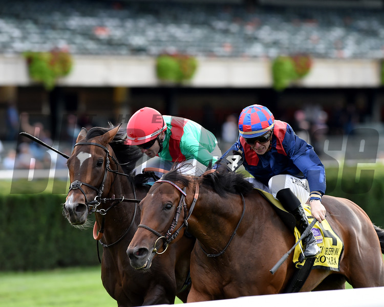 Spanish Mission wins the 2019 Jockey Club Derby Invitational <br /> Coglianese Photos/Chelsea Durand